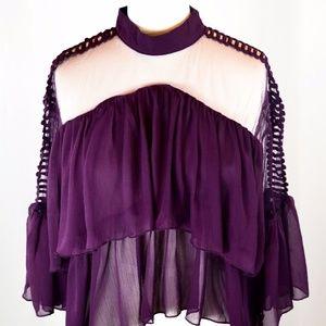 Tops - Purple Ruffle Blouse